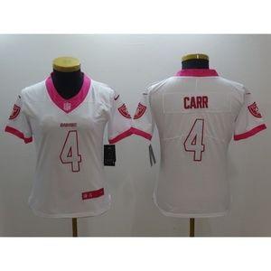 womens pink raiders jersey